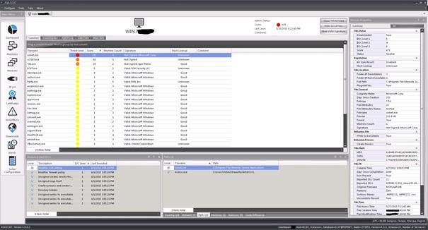 04. Szczegółowy widok stanu hosta wRSA ECAT wSecurity Operations Center Mediareocvery